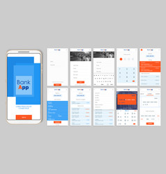 design of the mobile app ui ux a set of gui vector image