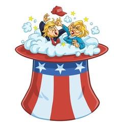 Donald Trump Versus Hillary Clinton vector image