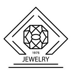 elegant jewelry logo outline style vector image