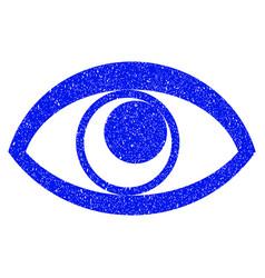 eye grunge icon vector image