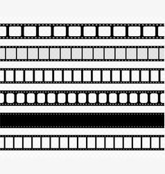 film strip tape movie for cinema photo video vector image