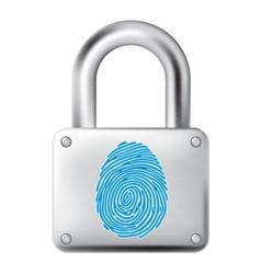 Fingerprint lock vector image