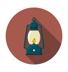 flat design modern lantern icon camping vector image
