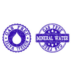 gas free mineral water grunge stamp seals vector image