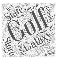 Golf Galaxy Word Cloud Concept vector