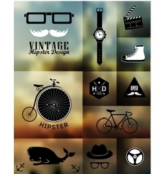 Hipster style info vector image