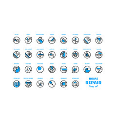 Home repair and building icons set vector