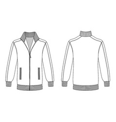 Jacket with zipper vector
