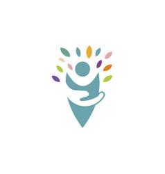 kids care logo vector image