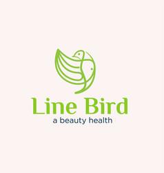 Line bird concept logo designs simple modern vector