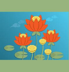 Lotus japan pattern vector