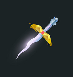 magic dagger isolated game element vector image