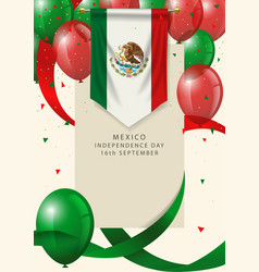 mexico insignia with decorative balloons vector image