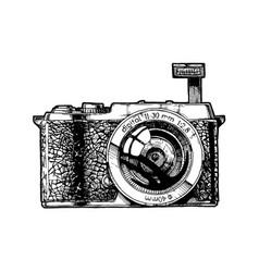 Mirrorless interchangeable-lens camera vector