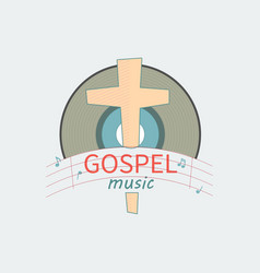 Music gospel for salvation vector