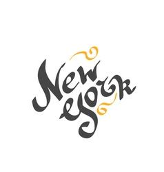 New york hand drawn bright text vector