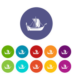 pirate ship icon simple style vector image