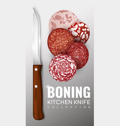 realistic boning knife concept vector image