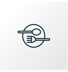 restaurant icon line symbol premium quality vector image