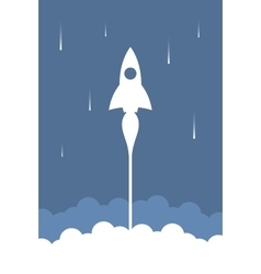Rocket start up design vector
