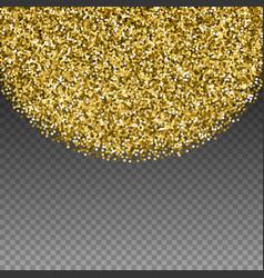 Round gold glitter luxury sparkling confetti scat vector