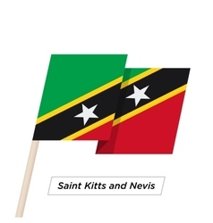 Saint Kitts and Nevis Ribbon Waving Flag Isolated vector image