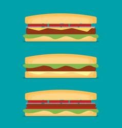 Sandwich flat style vector