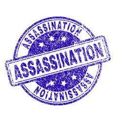 Scratched textured assassination stamp seal vector