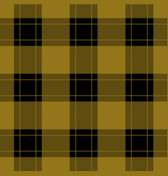 seamless black ocher tartan with ocher stripes vector image