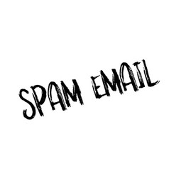 spam email rubber stamp vector image
