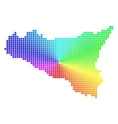 Spectral dot sicilia map vector