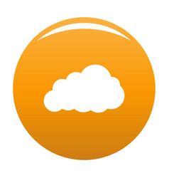 Storm cloud icon orange vector