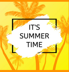 Summer time background with palm vector