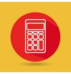 symbol of calculator isolated icon design vector image
