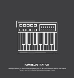 Synth keyboard midi synthesiser synthesizer icon vector