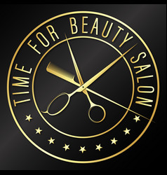 Time for beauty salon and barber design vector
