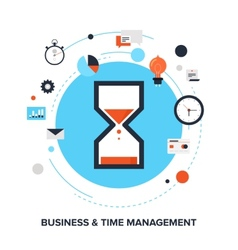 Time management vector image