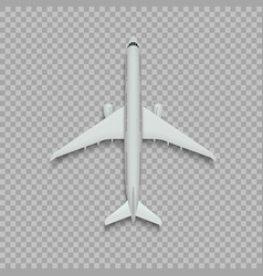 Top view airplane vector