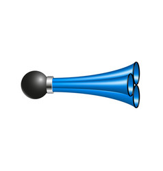 triple air horn in blue design vector image vector image
