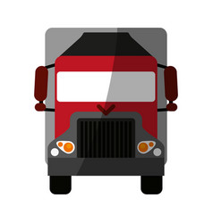 truck flat shadow vector image