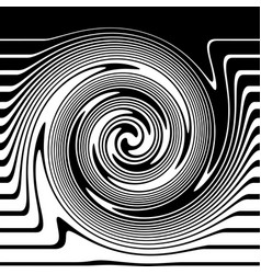 Twisted lines vector