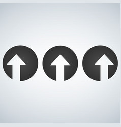 up left and right arrows cut in circles vector image