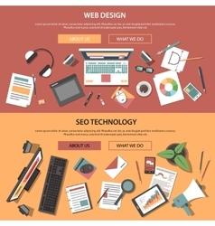 Web Horizontal Banners vector image