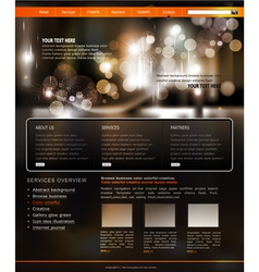 Website template for business vector