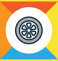 wheel colorful outline symbol premium quality vector image
