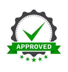 approved stamp label sticker or stick flat icon vector image