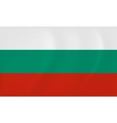 Bulgaria waving flag vector image vector image