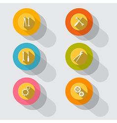 Circle Tools Icons vector image vector image