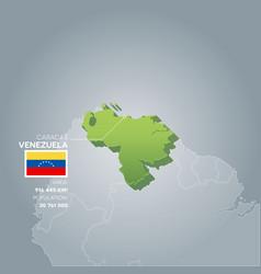 venezuela information map vector image vector image