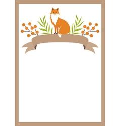 Woodland Card vector image